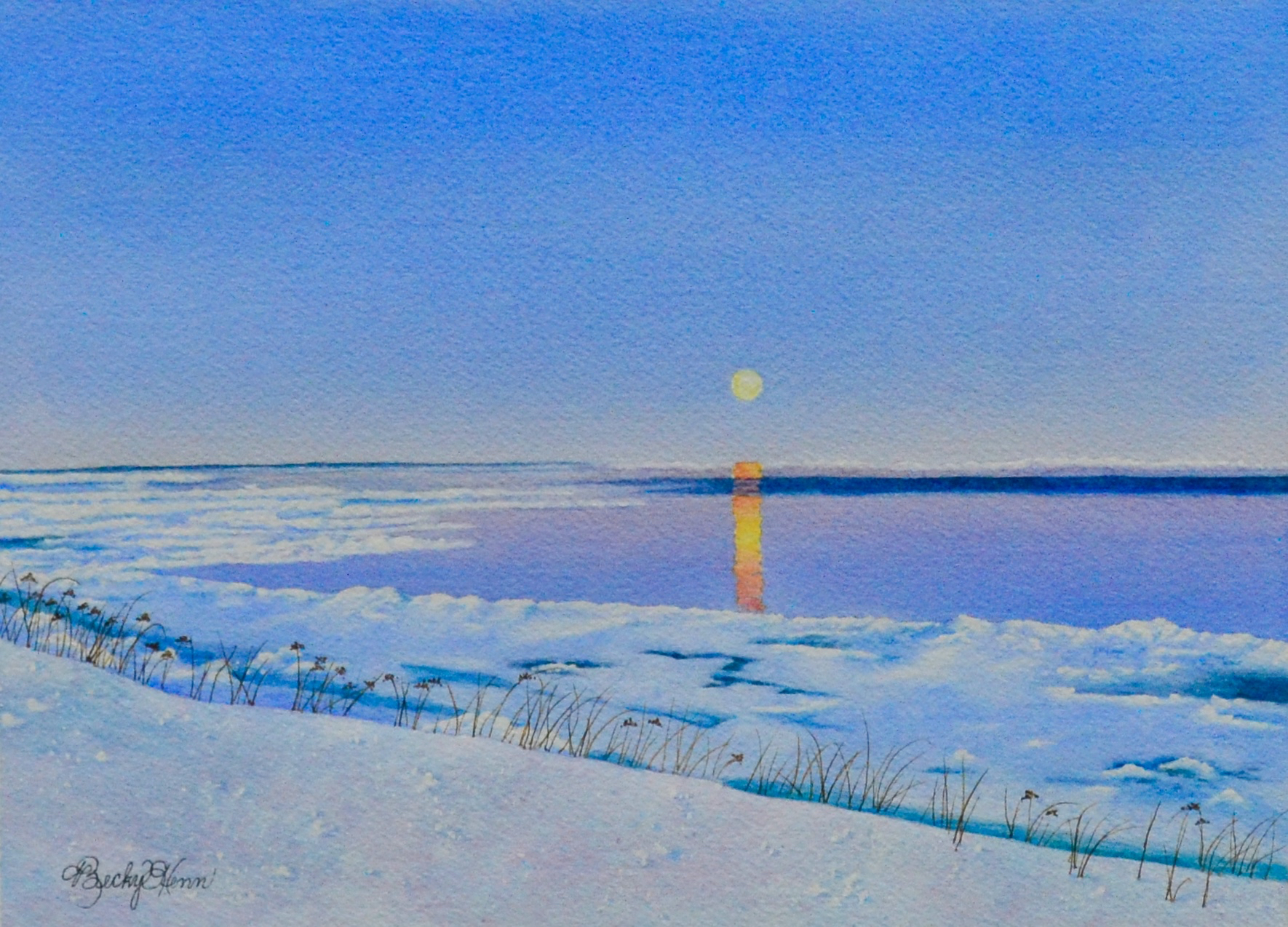 Moonrise on Lake Superior