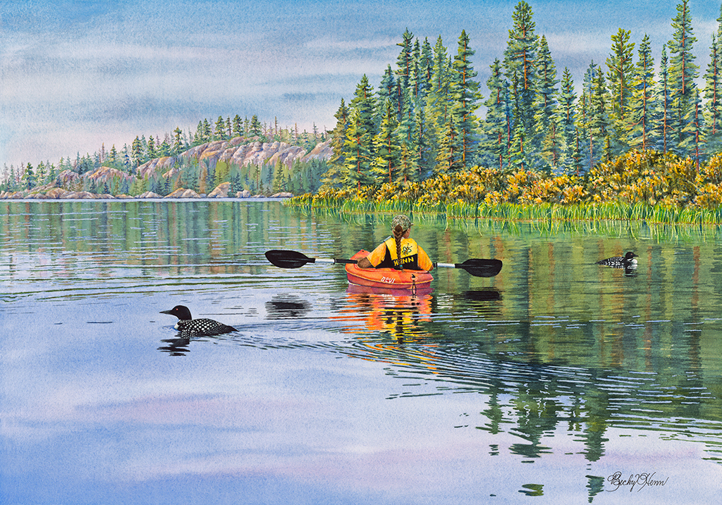 """The Loon Whisperer"" Gull Lake MN"