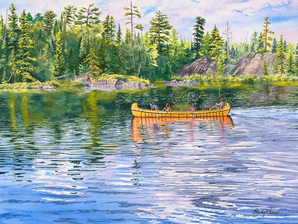 "The Voyageurs 20""x15"" End of the Gunflint Trail"